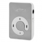 UP936 Portable Clip On MP3 Player / TF / Earphones -- White Plus Silver (MP3/MP4 Players Category)