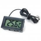 "1.5"" LCD Car / Home Outdoor Digital Thermometer Black (2 x LR44) (Homeware Category)"