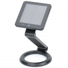 Solar Powered / USB Rechargeable Folding 1W 6000 7000K White 1 LED Desk Lamp Table Light Black (Solar Powered Gadgets Category)