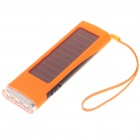 Solar Powered 800mAh Portable Power Pack with 3 LED White Light and Charging Adapters Orange (Solar Powered Gadgets Category)