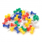 00MS782 Desk Office Coloured ABS Plus Steel Push Pins -- White Plus Yellow Plus Blue Plus Green Plus Red (Office Stationery Category)
