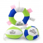 GW415 Professional Pet Dog Swimming Cotton Floating Aqua Toy -- Green Plus Blue Plus White (3 Pieces) (Pet Supplies Category)