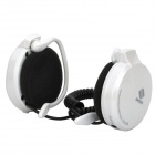Rechargeable Sports MP3 Player Headset Headphone with FM / TF Slot White (Earphones Category)