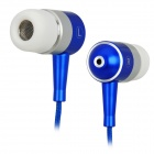 In Ear Earphone with Zipper Cord Design Blue Plus White (Earphones Category)