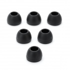 Replacement Silicone Ear Buds for In Ear Earphones Black (M Size / 6 Pack) (Earphones Category)