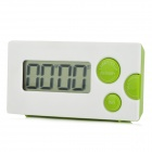 HA-PTIME-GD CL219 1.85 Inches LCD 4-Digital Kitchen Timer -- White Plus Green (1 x AAA) (Kitchen Gadgets Category)