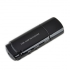 HZ329 UC-10 USB 2.0 Voice Recording Pen with 300KP Camera Video Camcorder -- Black (Digital Voice Recorders Category)