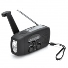 HY--GD GO239 Solar Powered / Hand Crank AM / FM Radio / LED Torch -- Black (Home Electronics Category)