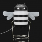 Bee USB Powered Speaker Black Plus White (3.5 millimeters Jack) (Speakers Category)