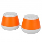 GV737 OJ-ADE-GD USB 3W MP3 Music Dual-Speaker for Laptop Notebook -- Orange Plus White (Speakers Category)