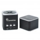 Rechargeable Aluminum Alloy Vibration Speaker with TF Slot Black Plus White (Speakers Category)