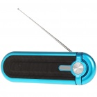 Portable Fashion Stereo Music Speaker Player with FM / SD / MMC / USB Blue (Speakers Category)