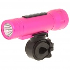 Multifunction 3W 3 Mode LED Torch with MP3 Music Speaker Player / TF Slot (2GB) (Speakers Category)