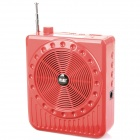 Multi Function Megaphone Voice Amplifier with DC / USB 2.0 / 3.5 millimeters Audio / TF Red (Speakers Category)