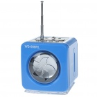 Portable MP3 Music Speaker with FM Radio / SD Slot / USB Host / Multi Colour LED Blue (Speakers Category)