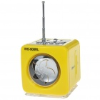 Portable MP3 Music Speaker with FM Radio / SD Slot / USB Host / Multi Colour LED Yellow (Speakers Category)