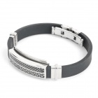 Fashion Stainless Steel Pressure Reduction Silicone Wrist Strap (22cm) (Bracelets Category)
