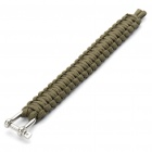 Survival Nylon Bracelet with Stainless Steel Buckles Green (Bracelets Category)