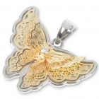 FS411 Butterfly Stainless Steel Pendant (Golden) (Necklaces Category)