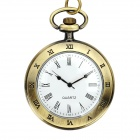 Vintage Zinc Alloy Pocket Watch Necklace Bronze (1 x 377s) (Watches Category)