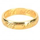 UJ788 Classic the Lord of the Rings Alloy 24K Gold Plated Ring -- Golden (Rings Category)