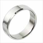 GJWC422 Smooth Titanium Steel Men's Ring -- Silver (US Size 9) (Rings Category)