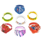 ABS Rings 1.6 centimeters (7 Pieces Set / Assorted) (Rings Category)