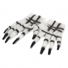 Scary Devil Gloves for Halloween Cosplay Costume Party White Plus Black (Pair) (Cosplay Supplies Category)
