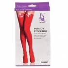 ER792 Bowknot Stockings -- Red Plus White (Free size) (Cosplay Supplies Category)