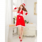 JY428 Miss Halter Christmas Dress -- Red (Free Size) (Cosplay Supplies Category)