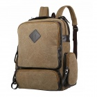 CB271 Manjianghong 1109 Unisex Canvas Backpack -- Khaki (Bags Category)
