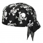 IM850 GDll Pattern Pirate Hat Cap -- Black Plus Silver (Hats Category)