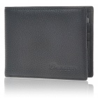 Fashion Real Leather Folding Men Wallet Black (Purses & Wallets Category)