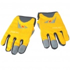Full Finger Motorcycle Racing Gloves Yellow Plus Grey (L Size / Pair) (Belts & Gloves Category)