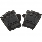 Tactical Half Finger Gloves with Protective Rubber Pad Pair (Size L) (Belts & Gloves Category)