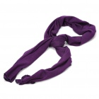 Fashion Knitted Oblong Cotton Yarn Scarf Shawl Purple (Scarves Category)