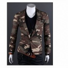 WJ420 Monseden X09 Fashionable Men's Camouflage Jacket -- CP Camouflage (Size L) (Shirts & Tops Category)