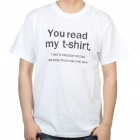 The Big Bang Theory Series You Read My T Shirt Design Cotton T shirt White (Size XXL) (Shirts & Tops Category)