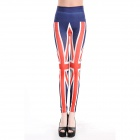 OI106 Fashionable Women's Great Britain Leggings -- Red Plus White Plus Blue (Free Size) (Pants & Dresses Category)