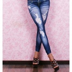 KU689 Dear-Lover 7858-1 Jeans Legging Pants -- Blue(Free Size) (Pants & Dresses Category)