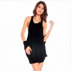 MN678 25083 Round Collar Women's Dresses -- Black (Size Free) (Pants & Dresses Category)