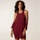 NE891 25083 Round Collar Women's Dresses -- Wine Red (Size Free) (Pants & Dresses Category)