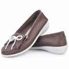 TX824 INCOME Cow Leather Casual Shoes -- Coffee (Euro Size-39) (Shoes Category)