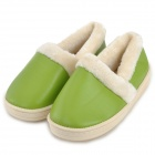 HG750 Woman's PU Surface Warm Lint Lining Shoes -- Green (Size 37 / Pair) (Shoes Category)