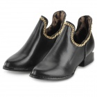 BS849 PU Ankle Boots for Women -- Black (Size 38 / Pair) (Shoes Category)
