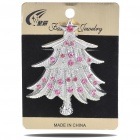 Christmas Tree Imitated Diamond Alloy Brooch Silver Plus Red (Clothing Accessories Category)