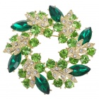 Multicolour Garland Austrian Crystal Pin Brooch (Emerald) (Clothing Accessories Category)