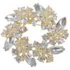 Multicolour Garland Austrian Crystal Pin Brooch (White Topaz) (Clothing Accessories Category)
