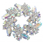 Multicolour Garland Austrian Crystal Pin Brooch (Rainbow) (Clothing Accessories Category)