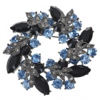 Multicolour Garland Austrian Crystal Pin Brooch (Black) (Clothing Accessories Category)